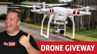 DJI Phantom 3 Drone Giveaway!  How to do Contests & Giveaways on YouTube