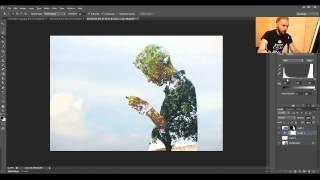 Как создать эффект двойной экспозиции в фотошопе. Урок фотошопа. Видеоуроки Pro Photoshop