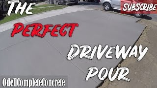 How To Pour A Perfect Concrete Driveway