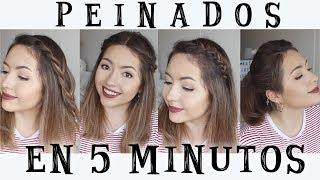 PEINADOS FÁCILES EN 5 MINUTOS! • Easy 5 MINUTE Hairstyles | Ekaty