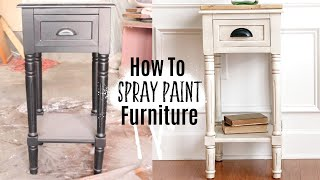 Spray Painting Furniture | Furniture Makeover | Ashleigh Lauren