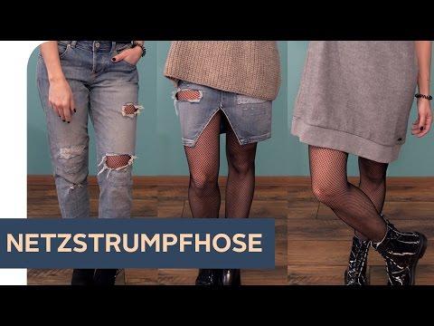 How to style: 3 Outfits mit Netzstrumpfhose   ~ refashion | OTTO
