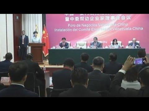 Maduro participa en China en un foro de negocios para empresas venezolanas