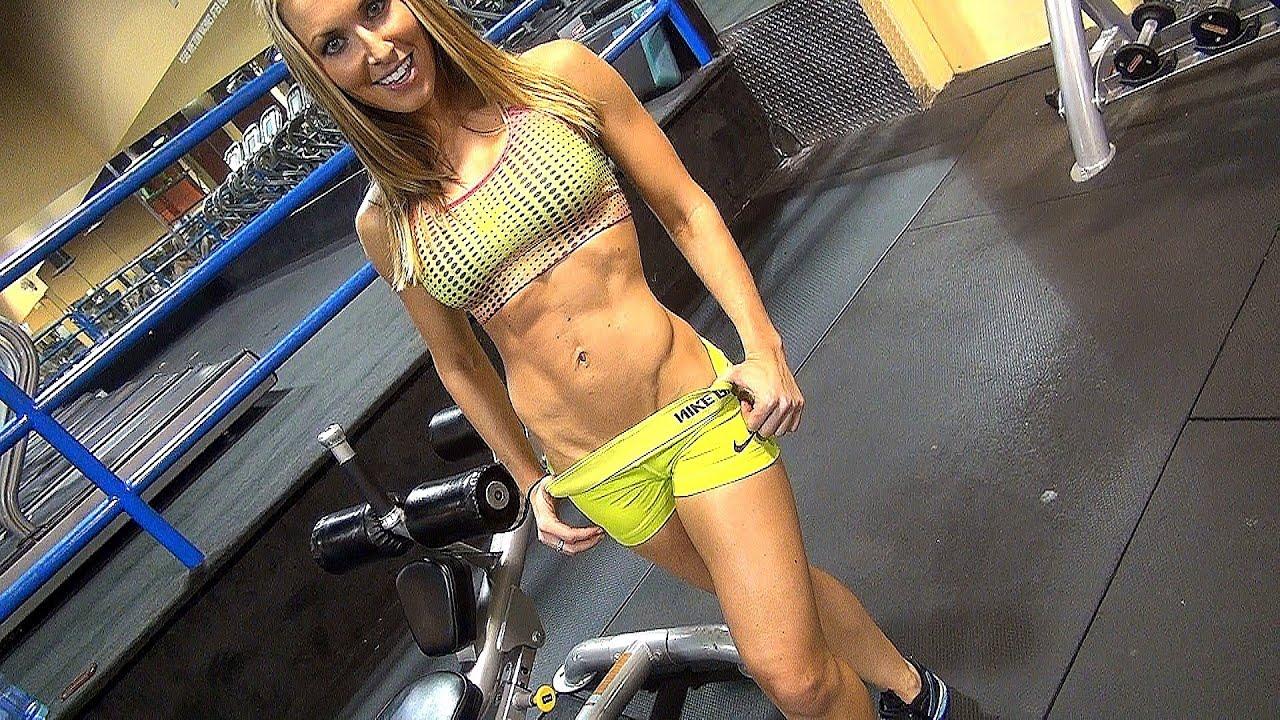 Women's Ultimate «SIX-PACK» ABS Gym Workout!!! w Kaycie Davis, Part 1