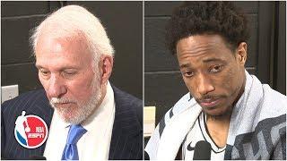 Gregg Popovich and DeMar DeRozan react to the death of Kobe Bryant | NBA on ESPN