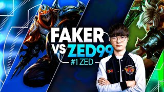 FAKER brings back RIVEN MID to counter #1 ZED WORLD! *INSANE MATCH-UP*