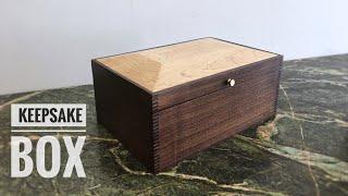 Making A Walnut Keepsake Box // Box Joints// Raised Panel Lid