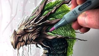 Lets Draw An EARTH DRAGON - FANTASY ART FRIDAY