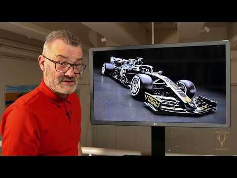Afbeelding: F1-analist Craig Scarborough analyseert de Haas VF19 tot in detail