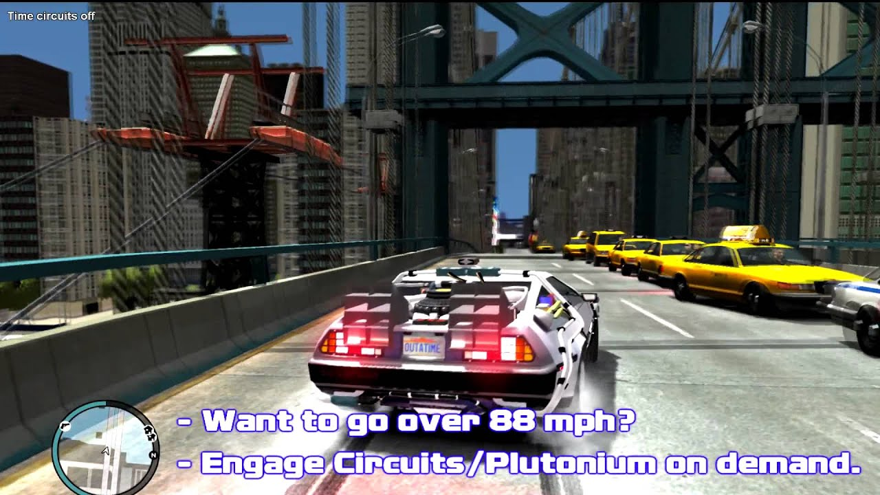 Insanely Cool GTA IV Mod Lets You Time Travel With A DeLorean