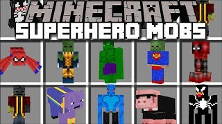 Minecraft SUPERHERO MOBS MOD / MORPH A COW AND SPIDERMAN TOGETHER !! Minecraft Mods