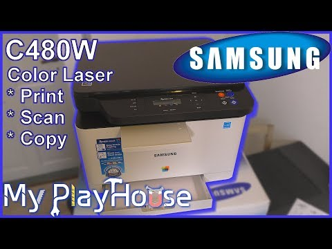 Samsung C480W Color Laser, Unboxing, First Print & Scan - 731