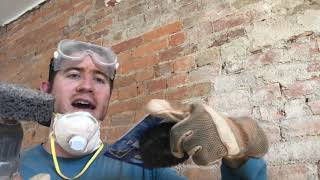 HOW TO EXPOSE BRICK - GET THAT (extra) MORTAR OFF, FIRST!