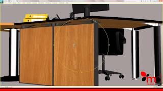 mobilier birou managerial prezentare scena