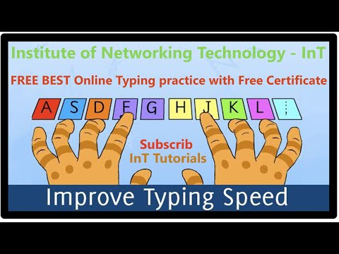 FREE BEST Online Typing practice with Free Certificate.