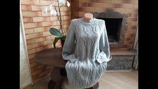 Платье (туника, пуловер) спицами. Часть 9. Обзор готового изделия.