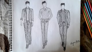 How To Draw  Men Sketch