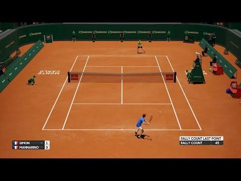 Gilles Simon vs Adrian Mannarino - AO Tennis PS4 Gameplay