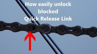 Quick Chain bicycle - unlock blocked