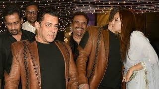 Salman Khan & Sonakshi Sinha At their Manager's Reception Party