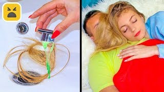 Girls Problem! LONG HAIR vs SHORT HAIR || Funny Everyday Situations