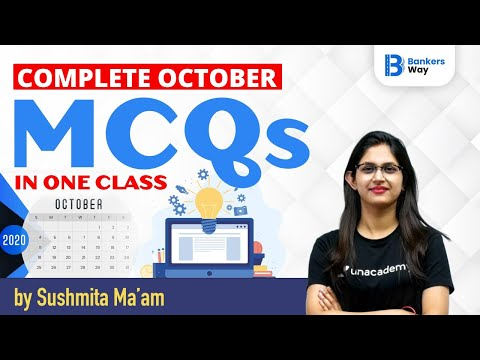 October Monthly Current Affairs 2020 | Current Affairs by Sushmita Tripathi | MCQs