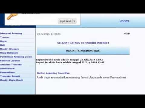Transaksi Donasi via Internet Banking Mandiri