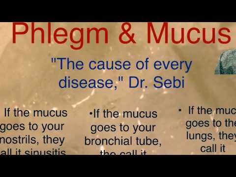 Video Dr sebi mucus is the cause of all disease