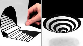 27 AMAZING DRAWING TIPS    ILLUSIONS, 3D DRAWINGS AND ONE-STROKE PAINTINGS
