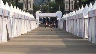 Sejumlah Stan di Zona Festival Asian Para Games 2018 Tampak Kosong