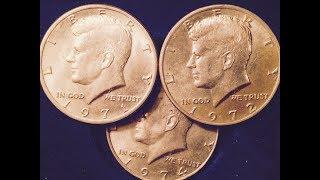 1971, 1972, 1974 Kennedy Half Dollars
