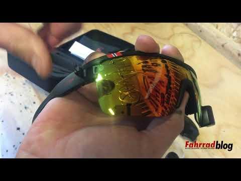 TriEye Fahrradbrille mit integriertem Rückspiegel