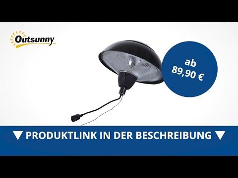 Outsunny Elektrischer Terrassenstrahler / Infrarot Standheizstrahler 1500W - direkt kaufen!