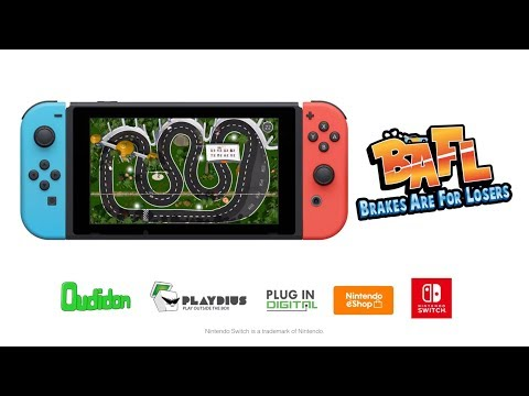 BAFL - Brakes are for Losers - Nintendo Switch Release Trailer thumbnail