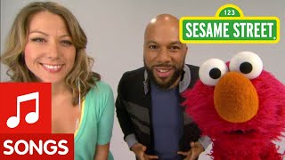 """Sesame Street: Common and Colbie Caillat - """"Belly Breathe"""" with Elmo"""