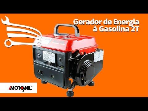 Gerador de Energia a Gasolina 2T Partida Manual 0,8Kva  - Video