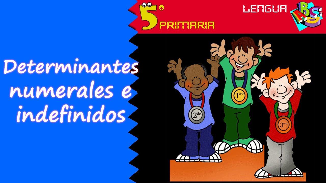 Determinantes numerales e indefinidos. Lengua, 5º Primaria. Tema 6