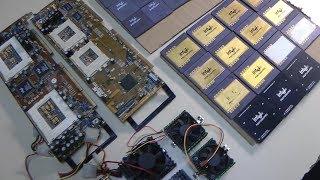 ASUS old boards era 486 Dual Pentium 1 PRO + Media BUS cards - RETRO Hardware
