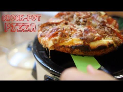 Meat Lover's Deep Dish Crock Pot Pizza