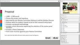 RAIC Syllabus 2018 Senior Student Webinar