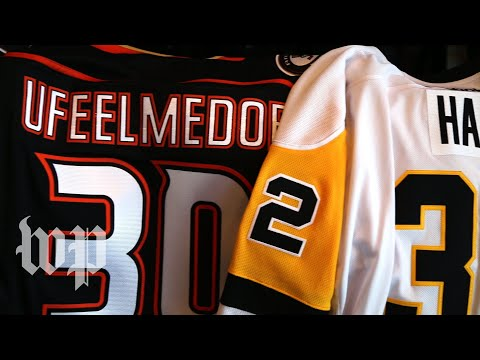 The stories behind Mike Scott's custom NHL jerseys