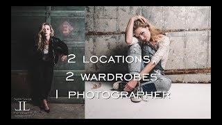 5 Minute Photography Shoot CHALLENGE! 2 Locations, 2 Wardrobes, 1 Photographer