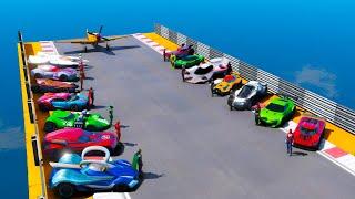 Superheroes Hot Wheels Cars Сhallenge SpiderMan and other GTA V MODS Человек паук Супермэн !