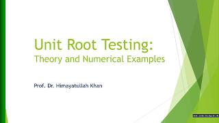 70 #Testing #Unit #Root In #Time #Series (Theory And Examples)