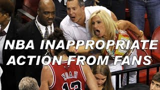 NBA Inappropriate Actions From Fans