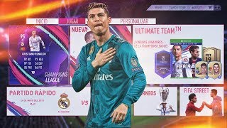 FIFA 19 GAMEPLAY I Ultimate Team Concept Menu