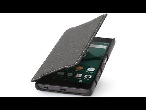 Tasche für Sony Xperia Z5 Book Type aus Leder ohne Clip von StilGut