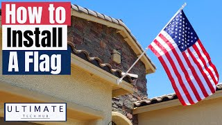 HOW TO INSTALL A FLAG ON A HOUSE QUICK & EASY  SEASONAL DESIGNS, INC