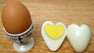 Лайвхак! Как сварить яйца в форме сердец! Полезные советы ЛАЙФХАК