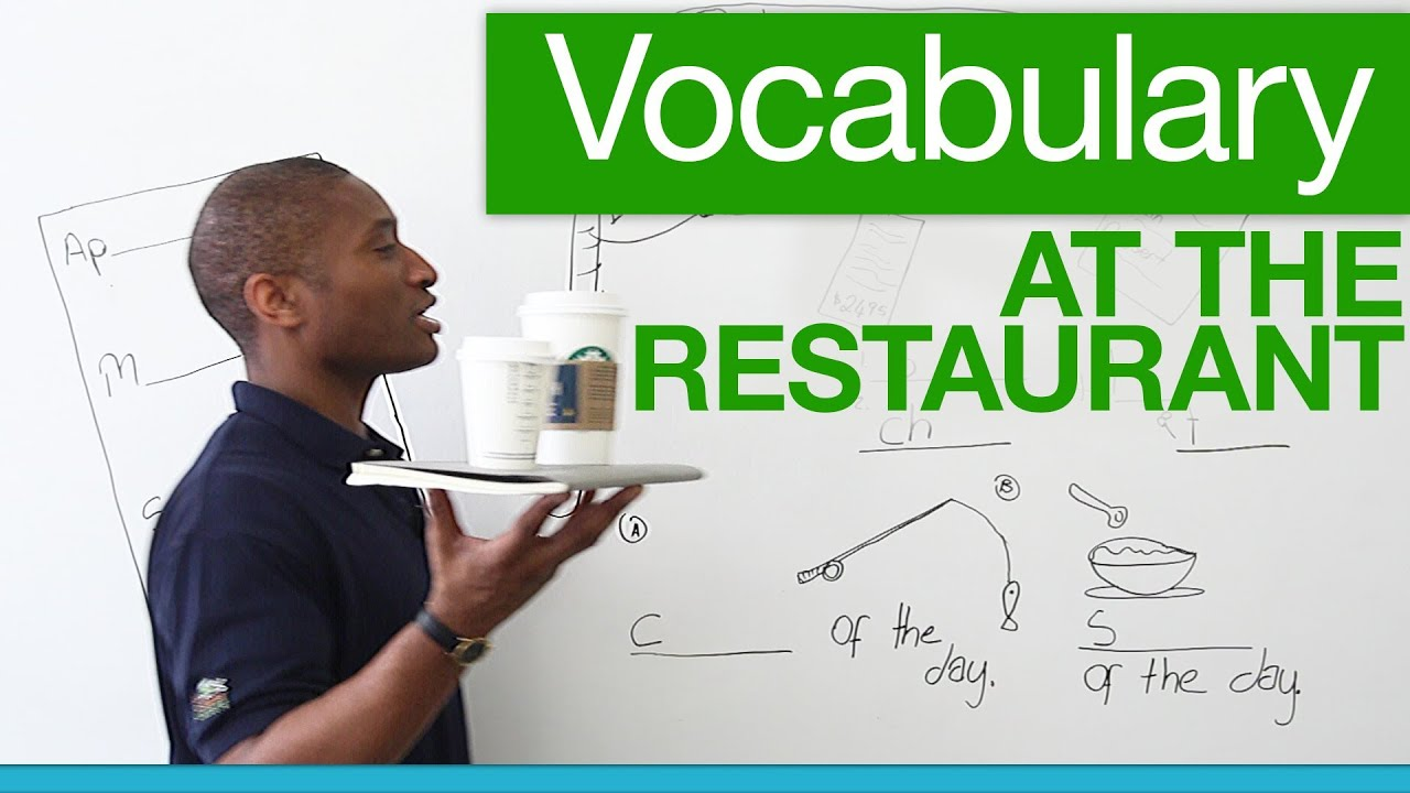 Basic English Vocabulary For Restaurants 183 Engvid